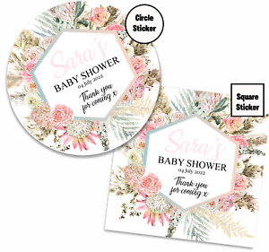 Personalised Baby Shower Stickers, Wedding Stickers, Birthday Stickers, D003