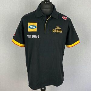 Castelli MTN Qhubeka Cycling Team Official Polo Shirt Mens Size 2XL Bike T-Shirt