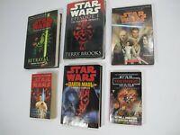Lot of 5 Star Wars Books - The Phantom Menace - Secrets of the Jedi - Various