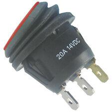 WIPPSCHALTER IP65 spritzwassergeschützt EIN/AUS rote LED Beleuchtung