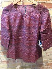 Kuhl Women's Flora 3/4 Shirt Blouse Hyacinth Size Extra Small NWT $65