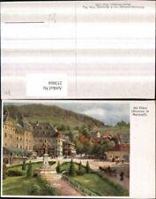 253804,Künstler AK Hugo Darnaut Abt Otker Brunnen in Mariazell
