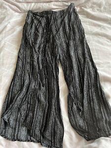 🎀 Size XL Black & White Pattern Crop Wrap Around Trousers 🎀