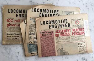 GROUP LOT LOCOMOTIVE ENGINEER NEWSPAPER BACK ISSUES BLE BROTHERHOOD OF LE 1970'S