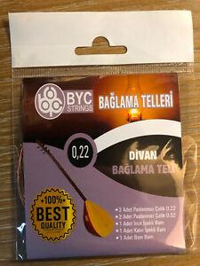 Saz Baglama Teli 0.22lik Divan Profi Qualität + Bam Bam