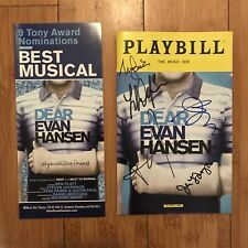 Dear Evan Hansen Signed OBC Playbill - Laura Dreyfuss, Rachel Bay Jones