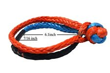 """7/16""""×6.1inch Soft Shackles,ATV Winch Shackle,sailing shackle,Car towing Shackle"""