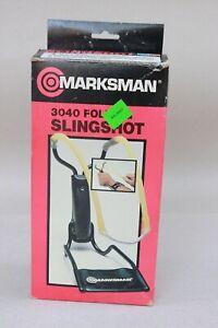 Marksman 3040 Folding Slingshot With Box Used Vintage Tempered Steel Fold-up
