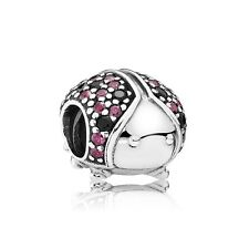 New Authentic Pandora charm 791484CFR Sparkling Ladybug Bead Box Included