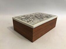 Henkel 60er 70er Jahre Teak Porzellan Dose Lidded Box Design 60s 70s