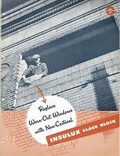 MRO Brochure Owens-Illinois Kimble - Insulux - Glass Block - Window c1952 (MR75)