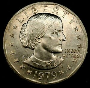 1979-D $1 Susan B Anthony Dollar  BU 20los1008 70 Cents Shipping