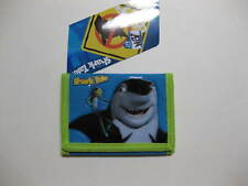 """Shark Tale Tri-Fold Wallet 4.5"""" x 3.25"""" ( Lime/Turquoise ) BRAND NEW WITH TAGS"""
