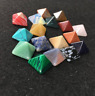 Set of 7 Chakra Pyramid Crystal Stone Set Healing Wicca NATURAL spirituality
