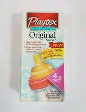NEW PLAYTEX ORIGINAL NURSER SYSTEM HTF NaturaLatch 1 Nurser 1 Nipple 5 Drop Ins
