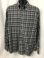 Maker & Company Mens Button Down Long Sleeve Plaid Shirt Size XL