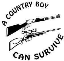 Country Boy Can - Window sticker Car/RV/Truck/ATV/Hunting/Outdoor Vinyl Decal