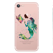 ARIEL THE LITTLE MERMAID 4 Watercolour Princess Disney Hard Case For iPhone