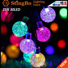 30 LED Outdoor Solar Power Fairy String Light Garden Colorful Wedding Party Deco