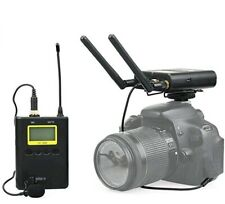50 Channels UHF Wireless Lavalier Microphone System Lapel Mic Real-time Monitor
