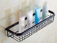 Black Oil Rubbed Brass Bath Wall Mounted Shower Storage Shelving Rack 8ba064