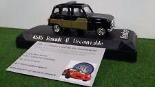 Renault 4l Parisienne Decouvrable Nera 1/43 Solido 4545 Macchina in Miniatura