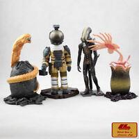 Kaiyodo Alien vs Predator Avp Cápsula Q Cara Hugger 4 Piezas 12.7cm Figuras