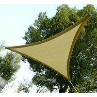Outsunny Triangle 16.4' Canopy Sun Sail Shade Garden Cover UV Protector
