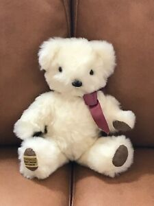 """Beautiful & Cute Vintage Classic 12"""" Merrythought White Mohair Teddy Bear"""