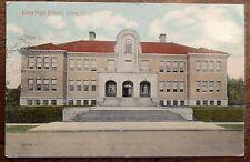 1915 Postcard of Lima High School in Lima, Ohio