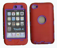 Best Protection Case / Cover for iPOD TOUCH 4 RED / PURPLE Free Stylus!!!