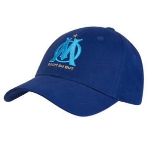Olympique Marseille Men's Hat Fanatics Embroidered Crest Hat - Blue - New