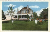Fishers Fisher's Island Long Island NY Zimbalist Home c1920 Postcard