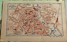 1930 the guide of the old town Auxerre Department 89 old map art print