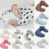 U-Shape Newborn Baby Nursing Breastfeeding Head Pillow Cover Slipcover 13 Types