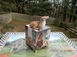 IGMA Artisan One of a Kind Dollhouse Miniature Hand Sculpted Baby Fawn Deer
