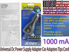 Universal 12 V Dc Power Supply Car Adapters Converters with Tips 1000 aM new