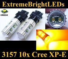 TWO Orange AMBER 50W High Power 3156 3157 10x Cree XP-E Turn Signal Lights