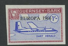 Guernsey SARK 1966 Europa 1s IMPERF PROOFunissued colour