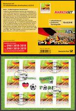 Bund Markenheftchen 88 I gest. Fußball 2012  10 x Nr. 2936  ESST selbstklebend