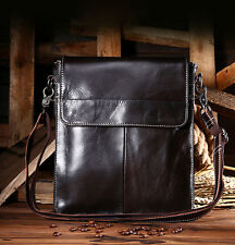 Men Fashion Genuine Leather Briefcase Business Messenger Shoulder Crossbody Bags