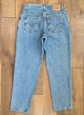 Vtg Levis Womens Relaxed Tapered 550 Jeans Red Tab 100% Cotton Sz 12S Waist 32""