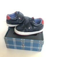 NIB Tommy Hilfiger Mini Cameron Infant Boys Blue Shoes Size 3 Or 6-9 Months
