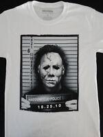 Michael Myers Halloween Haddonfield Police Mug Shot Horror Movie T-Shirt