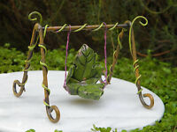 Miniature Dollhouse FAIRY GARDEN Furniture ~ Fairytale Leaf Swing ~ NEW