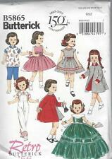 BUTTERICK SEWING PATTERN RETRO 1956 18' CLOTHES DRESS COAT TOP PANTS  B5865