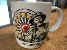 Vtg Emmett Kelly Jr Coffee Mug Clown Circus Ferris Wheel Ceramic Flambro 1987