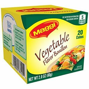 Maggi Vegetable Flavor Bouillon Cubes, 2.82 oz Ounce (Pack of 1)