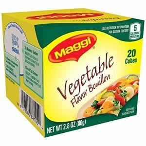 Maggi Vegetable Flavor Bouillon Cubes, 2.82 oz Ounce (Pack of 1)