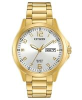 Citizen Eco-Drive Men's Gold-Tone Day/Date Indicator 40mm Watch BF2003-50A